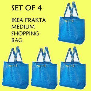 Set of 4 Reusable Shopping Bags IKEA Frakta